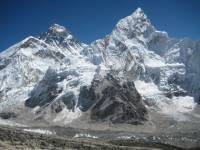 View of Mt. Everest And Nuptse  » Click to zoom ->