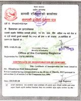 Certificate of Incorporation of Compnay  » Click to zoom ->